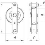 Схема блока с открытым люком