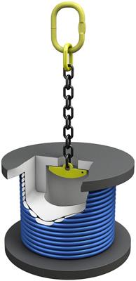 Захват для вертикального подъема кабельных барабанов купить в Перми. Товар в наличии, доставка по России