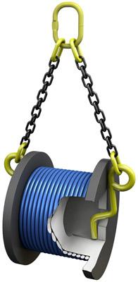 Захват для горизонтального подъема кабельных барабанов купить в Перми. Товар в наличии, доставка по России