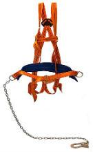 Удерживающая страховочная привязь с наплечными и набедренными лямками (строп цепь)
