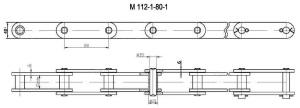 Продажа цепи тяговой пластинчатойМ112 по недорогой цене, доставка по России