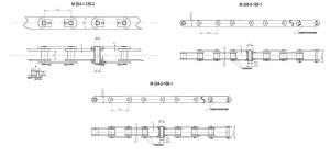 Продажа цепи тяговой пластинчатой М224 по недорогой цене, доставка по Росии