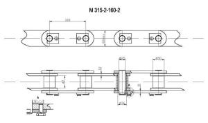 Продажа цепи тяговой пластинчатой М315 по недорогой цене, доставка по России