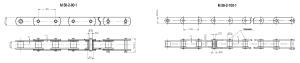 Купить цепи тяговые пластинчатые М56 по недорогой цене, доставка по России