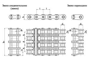 Продажа роликовой четырехрядной приводной цепи по недорогой цене, доставка по России
