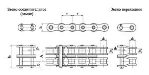 Продажа приводной двухрядной роликовой цепи недорого, доставка по России