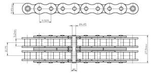 Характеристики и размеры цепей приводных втулочных