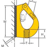 Схема крюка для экскаватора