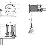 Схема ручной барабанной лебедки