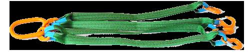 Стропы 4СТ четырехветвевой текстильные, ленточные для захвата и подъема грузова