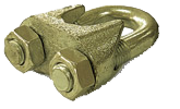 Зажим винтовой канатный DIN 1142 купить в Перми. Товар в наличии, доставка по России