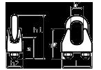 Схема зажима винтового канатного DIN 741